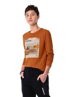 camiseta manga longa juvenil masculina trust marrom hangar33 70358 1