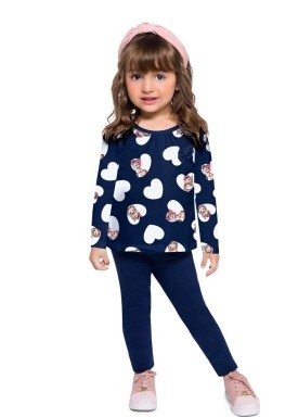 conjunto manga longa infantil feminino cute marinho brandili 53912 1