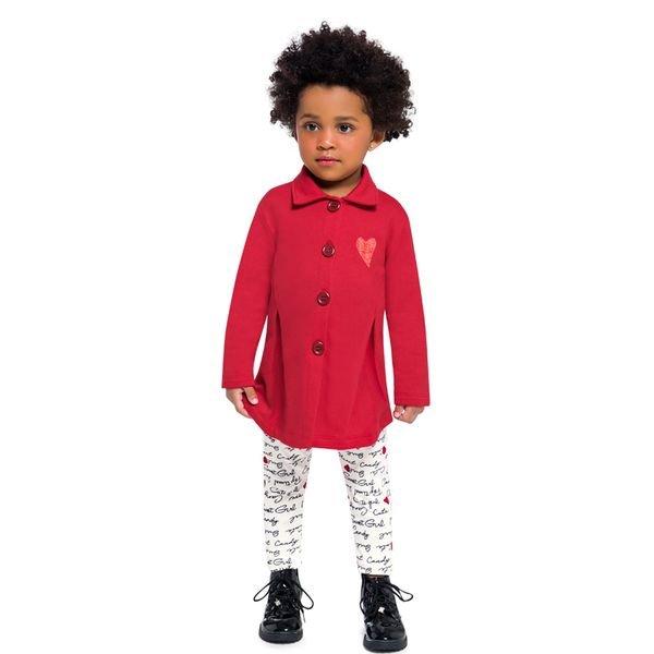 conjunto moletom infantil feminino coracao vermelho brandili 53919 1