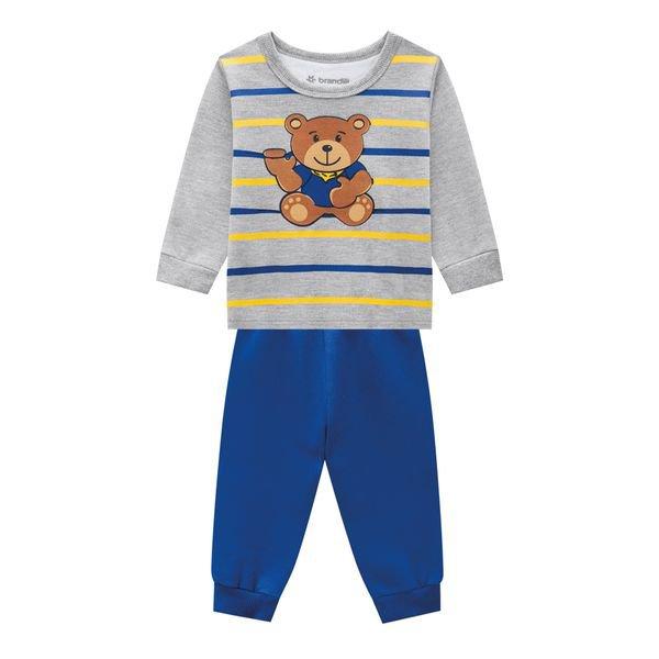 conjunto moletom bebe masculino bear mescla brandili 54095 1
