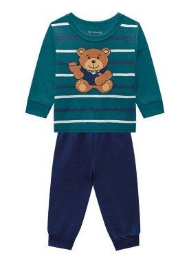 conjunto moletom bebe masculino bear verde brandili 54095 1