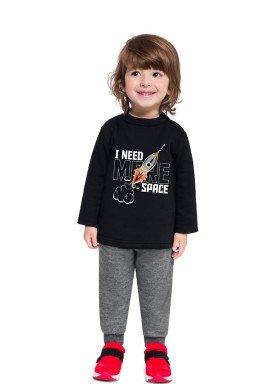 conjunto moletom bebe masculino space preto brandili 54279 1