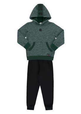 conjunto moletom infantil masculino adventure verde alakazoo 67422