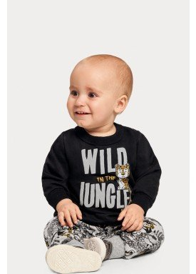 conjunto moletom bebe infantil masculino jungle preto alakazoo 67361 1