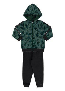 conjunto moletom infantil juvenil masculino folhas verde alakazoo 67400