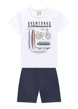 conjunto infantil masculino aventuras branco brandili 34603