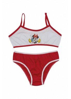 conjunto top calcinha infantil feminina minnie vermelho evanilda 22030002