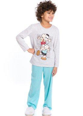 pijama longo infantil masculino turma monica mescla evanilda 27040038