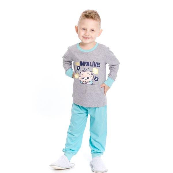 pijama longo infantil masculino turma monica mescla evanilda 41040012
