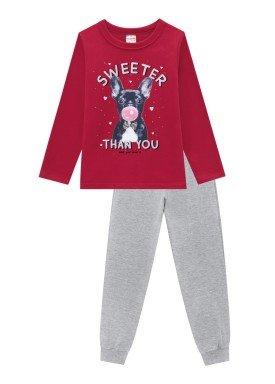 conjunto moletinho infantil feminino sweeter bordo brandili 53999 1