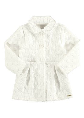 casaco matelasse infantil feminino offwhite alakazoo 67476