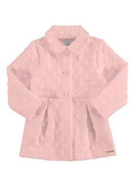 casaco matelasse infantil feminino salmao alakazoo 67476