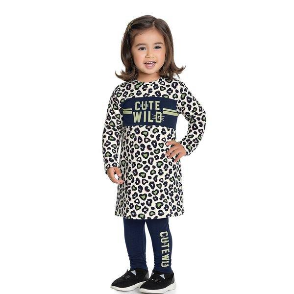 conjunto manga longa infantil feminino cute wild marfim fakini 1048 1