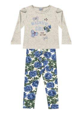 conjunto manga longa infantil feminino magnific mescla fakini 1055