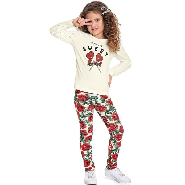 conjunto manga longa infantil feminino sweet marfim fakini 1103 1