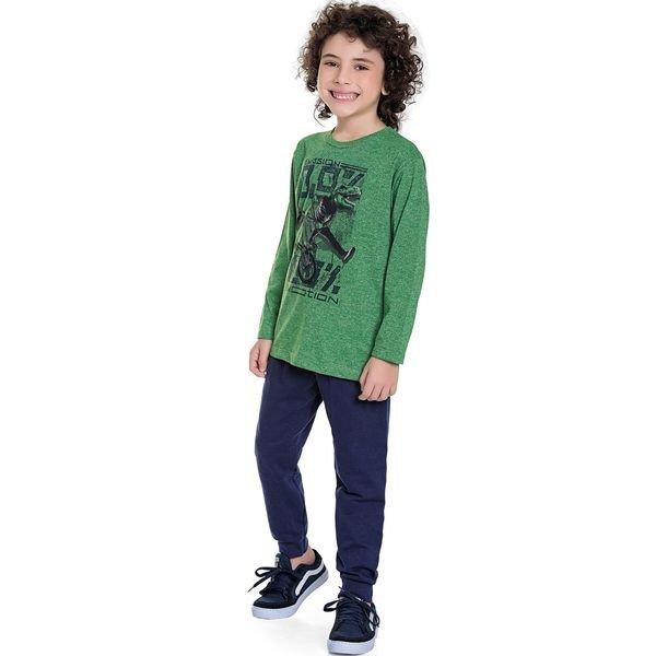 conjunto manga longa infantil masculina emotion verde fakini 1264 1
