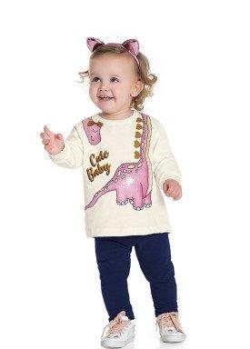 conjunto moletom bebe feminino cute baby marfim fakini forfun 1150 1