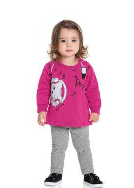 conjunto moletom bebe feminino music pink fakini forfun 1153 1