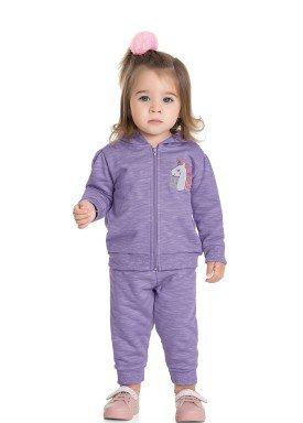 conjunto moletom bebe feminino unicorn lilas fakini 1005 1