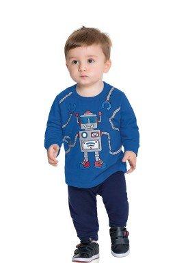 conjunto moletom bebe masculino robo azul fakini forfun 1178 1