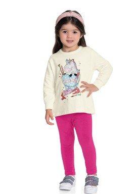 conjunto moletom infantil feminino cool marfim fakini forfun 1157 1