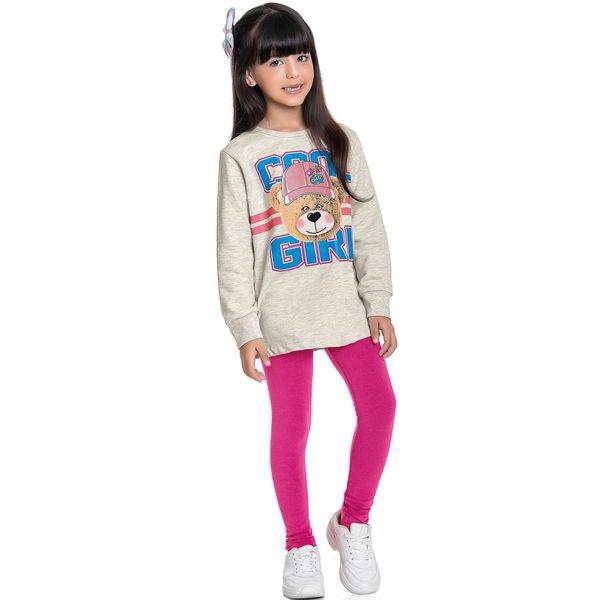 conjunto moletom infantil feminino pop cool girl mescla fakini forfun 1163 1
