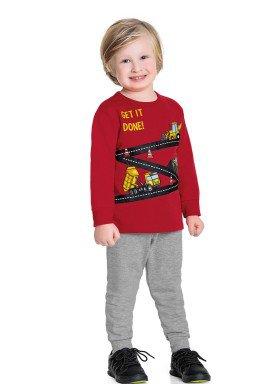 conjunto moletom infantil masculino get it done vermelho fakini forfun 1183 1