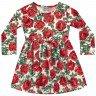 vestido manga longa infantil feminino roses vermelho fakini 1057