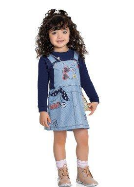 vestido molecotton infantil feminino ideas marinho fakini 1025 1