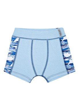 cueca boxer infantil masculina dinos azul upman mini 367ce