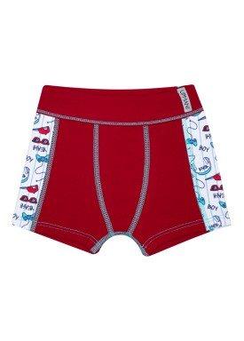 cueca boxer infantil masculina yeah vermelho upman mini 367ce
