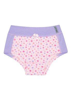 calcinha infantil feminina estrelas lilas upman mini 464ce
