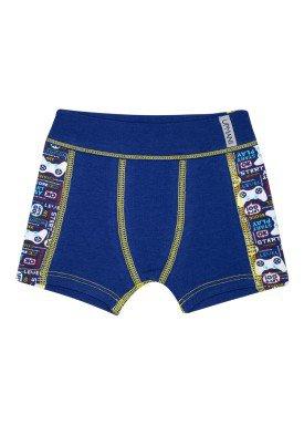 cueca boxer infantil masculina video game marinho upman mini 367ce