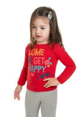 blusa manga longa infantil feminina happy vermelho marlan 22566 1