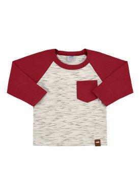 camiseta manga longa bebe masculina marfim marlan 20461