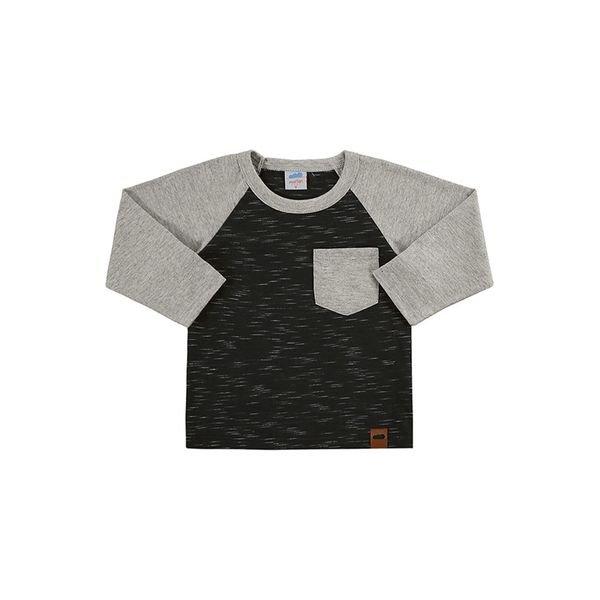 camiseta manga longa bebe masculina preto marlan 20461