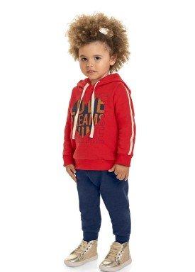 conjunto moletom infantil feminino love dreams vermelho marlan 22570 1