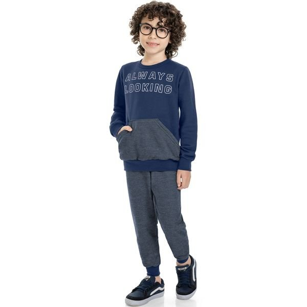 conjunto moletom infantil masculino looking marinho marlan 24684 1