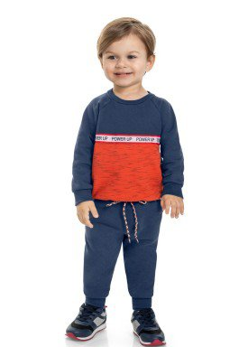 conjunto moletom infantil masculino power up marinho marlan 22590 1