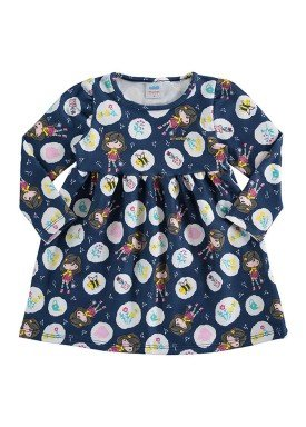 vestido molecotton bebe feminino jardim marinho marlan 20481