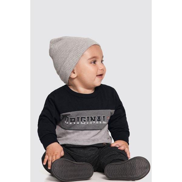camiseta manga longa bebe masculino original preto alakazoo 62551 1