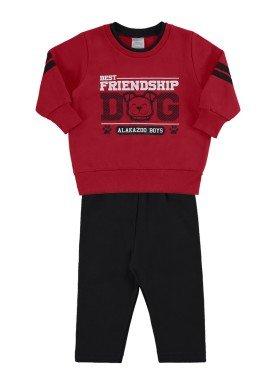 conjunto moletom bebe masculino dog vermelho alakazoo 62550 1