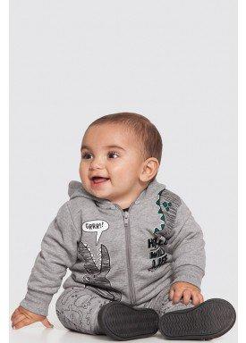 conjunto moletom bebe masculino wild life mescla alakazoo 62555 1