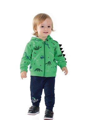 conjunto moletom bebe masculino dinossauros verde fakini 1208 1