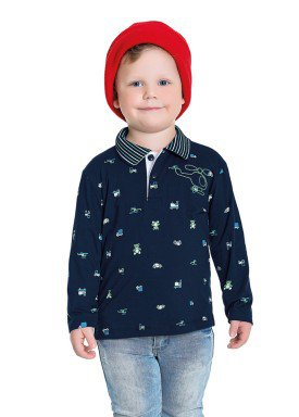 camisa polo manga longa infantil masculina helicoptero marinho fakini 1228 1