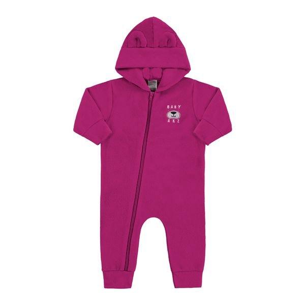 macacao capuz bebe feminino pink alakazoo 62568