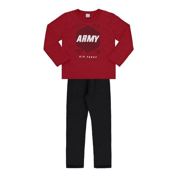 conjunto moletom infantil masculino army vermelho alakazoo 18022 1