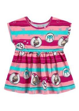 vestido bebe feminino princesa rosa alenice 41161