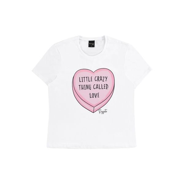 blusa juvenil feminina love branco rezzato 30798