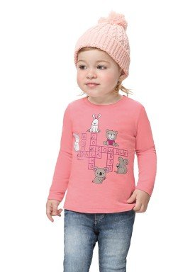 blusa manga longa bebe feminina animais rosa alenice 41170 1